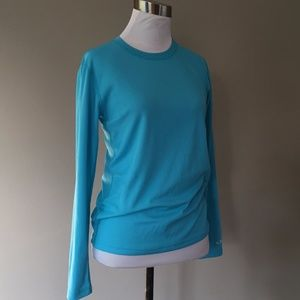 Pullover Blue Stretchy Large Long Sleeve Champion